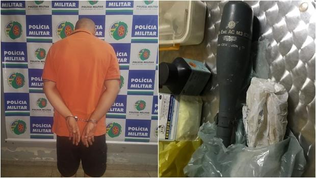 PM encontra granada de uso exclusivo do Exército dentro de residência, em Goiânia