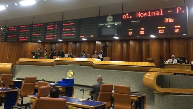 Vereadores derrubam dois vetos do prefeito Iris Rezende