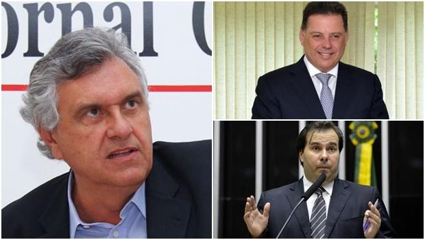 Caiado sente ciúme do relacionamento político entre Rodrigo Maia e Marconi Perillo