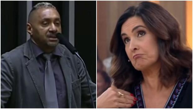 """Fátima Bernardes alfineta Tiririca no """"Encontro"""". Veja vídeo"""