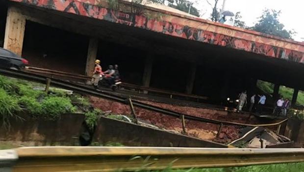 Interdição da Marginal Botafogo causa cerca de 25 km de congestionamento