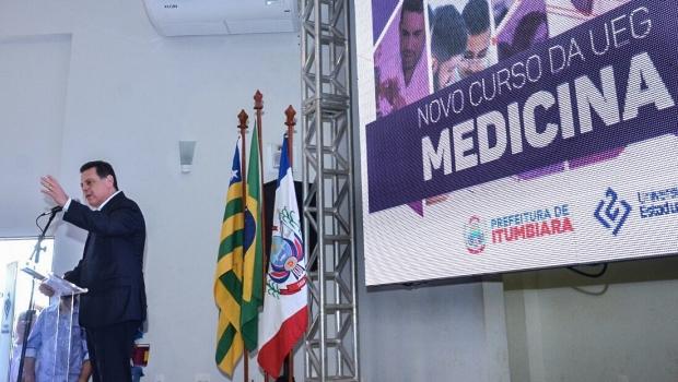Marconi lança o curso de Medicina no campus da UEG em Itumbiara