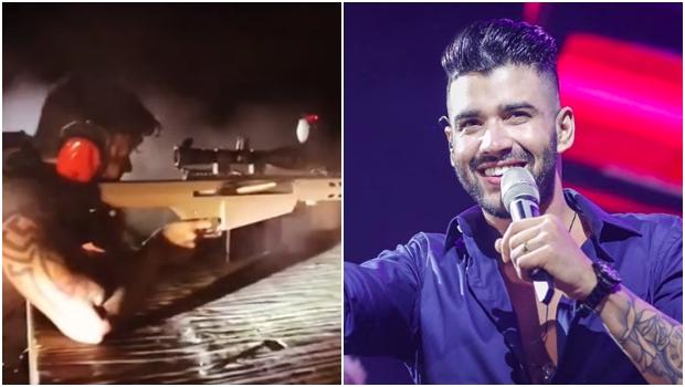 Gusttavo Lima publica vídeo com fuzil e declara apoio a Bolsonaro