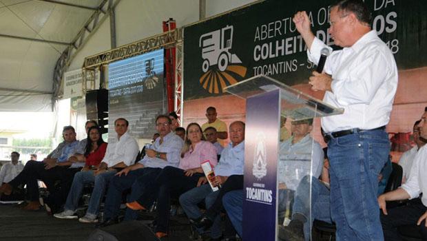 Governador abre safra de grãos e ministro exalta potencial do Estado