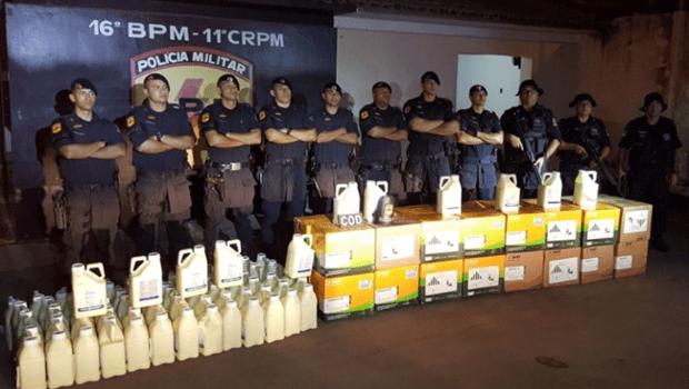 PM prende dupla suspeita de roubar defensivos agrícolas avaliados em R$ 1,2 milhão