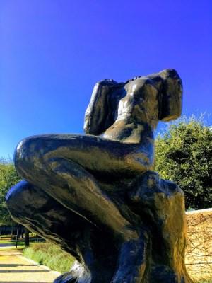 Rodin, esculturas em exposição na Universidade de Stanford, inverno 2018