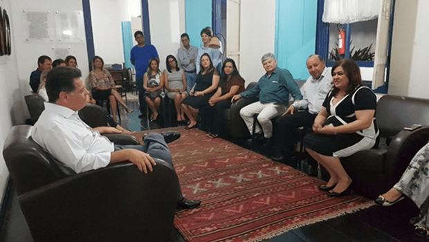 Prefeita reúne equipe para agradecer a Marconi pelas parcerias na cidade de Goiás