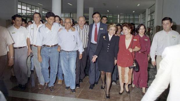 Fotografia mostra que Ronaldo Caiado era entusiasta do Tempo Novo e apoiou Marconi