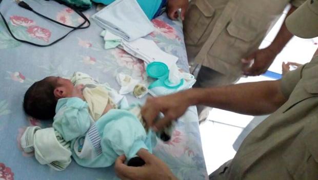 Recém-nascido é encontrado no lixo em Aparecida de Goiânia