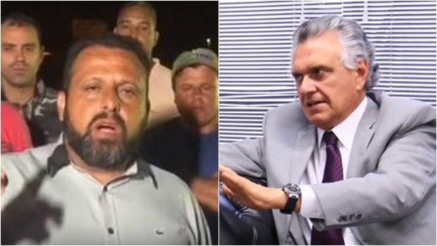 Apoiador de Caiado aproveita protesto de caminhoneiros para se promover