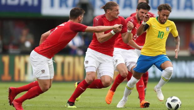 Com golaço de Neymar, Brasil vence Áustria por 3 a 0