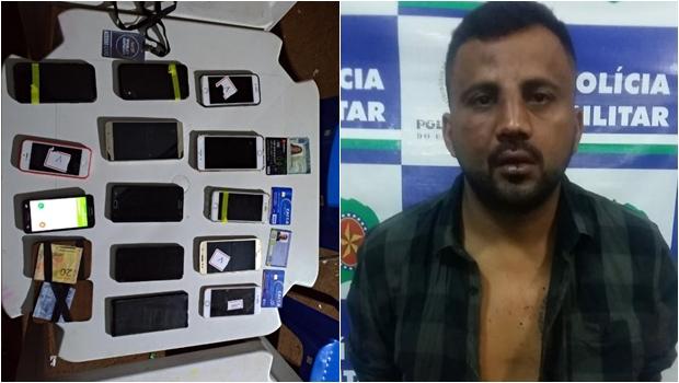 Homem é preso no Villa Mix com 12 celulares roubados