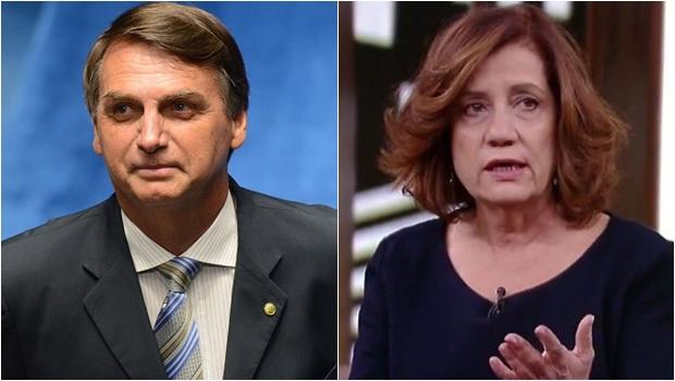 """Ao chamar a jornalista Miriam Leitão de """"Leitoa"""", Bolsonaro exibe violência e arcaísmo"""