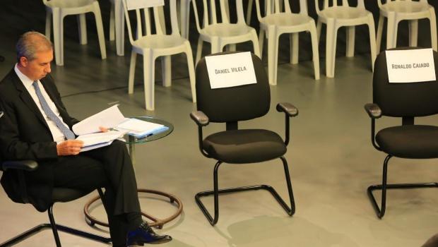 Candidatos cobram presença de Caiado e Daniel Vilela no debate da TBC