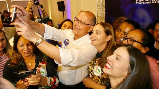 "Alckmin ataca Bolsonaro durante visita a Goiânia: ""É o pior dos candidatos"""