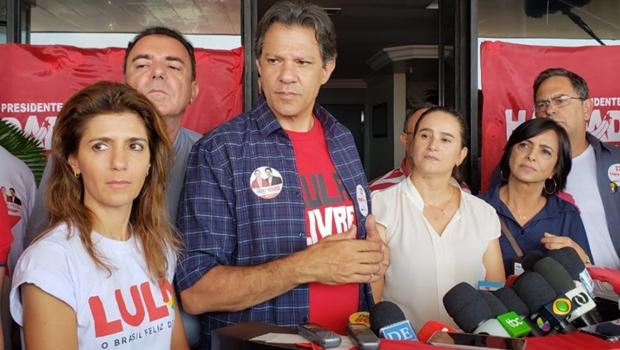 """Haddad comenta ação contra Marconi às vésperas das eleições: """"Promotor não pode fazer política"""""""