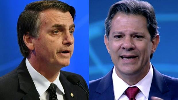 Na TV, Bolsonaro cita Lula e Haddad aponta cenário de violência das eleições