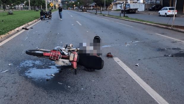 Colisão entre motos deixa um morto e dois feridos na GO-070