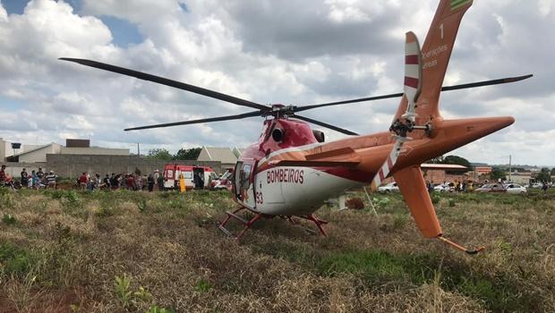 Grave acidente em Goianira envolve três veículos e deixa ferido