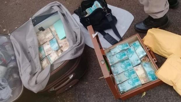 Dinheiro encontrado em mala no Tocantins saiu de Goiás para o Pará