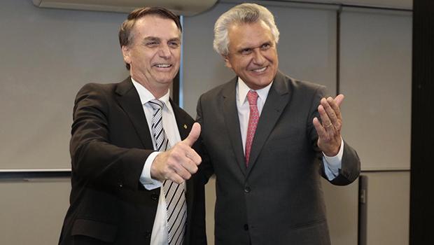 Jair Bolsonaro e Ronaldo Caiado | Foto: Divulgação/Cedida ao Jornal Opção