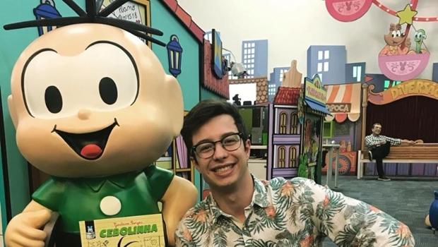 Gustavo Borges lança em Goiânia graphic novel sobre Cebolinha