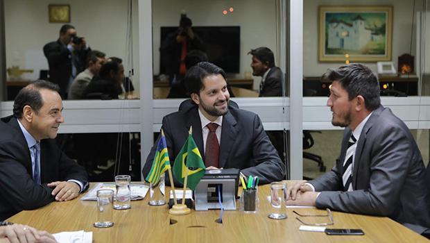 Glaustin da Fokus se encontra com Alexandre Baldy e pede novos recursos para Goiás