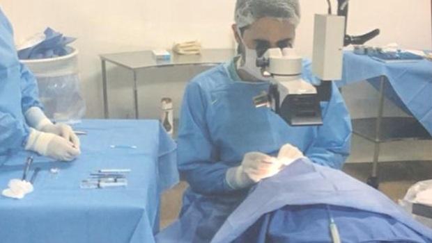 Manifestantes pedem retomada de cirurgias de catarata em Valparaíso