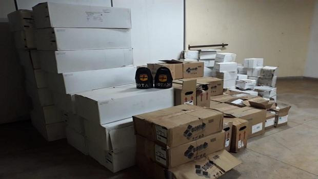 Rotam prende suspeito, cargas roubadas e maquinário para falsificar documentos em Aparecida