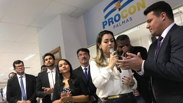 Cínthia Ribeiro inaugura Procon Palmas e destaca parceria do governo estadual