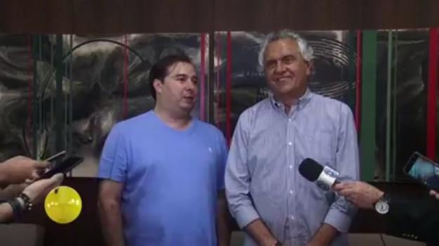 """""""Todos sabem do meu respeito a João Campos mas conhecem minha ligação com Maia"""", diz Caiado"""