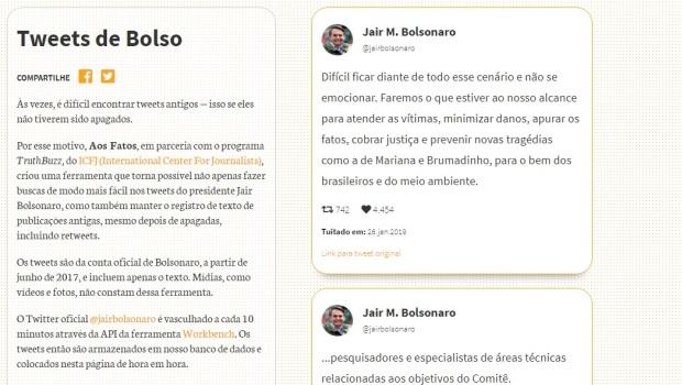 """""""Tweets de Bolso"""" auxilia pesquisa e acompanhamento do que diz o presidente nas redes"""