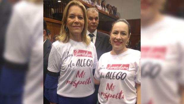 Servidoras da Alego protestam contra declarações de deputado