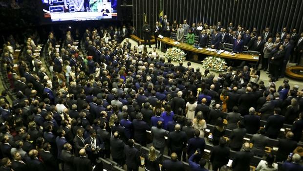 Após cerimônia de posse, deputados vão escolher comando da Câmara