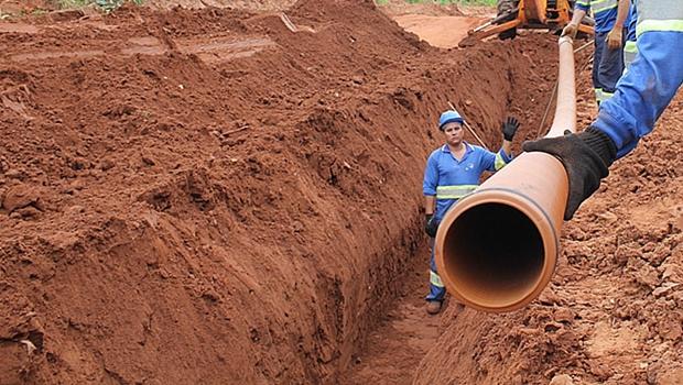 Saneago finaliza obra de expansão do esgoto em Aparecida de Goiânia