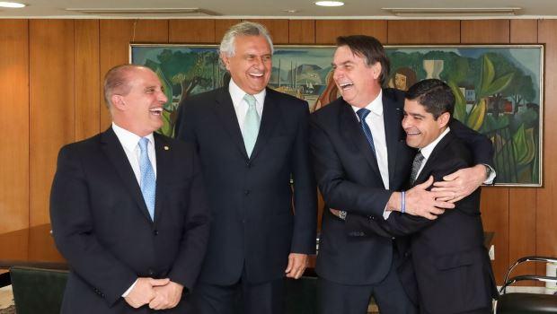 Onyx Lorenzoni Ronaldo Caiado Jair Bolsonaro ACM Neto - Foto Marcos Corrêa PR