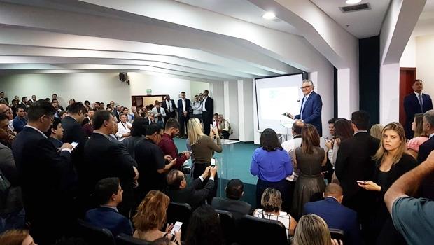 Governador Ronaldo Caiado (Dem) apresenta resultado dos 100 primeiros dias de gestão / Foto: Lívia Barbosa - Jornal Opção