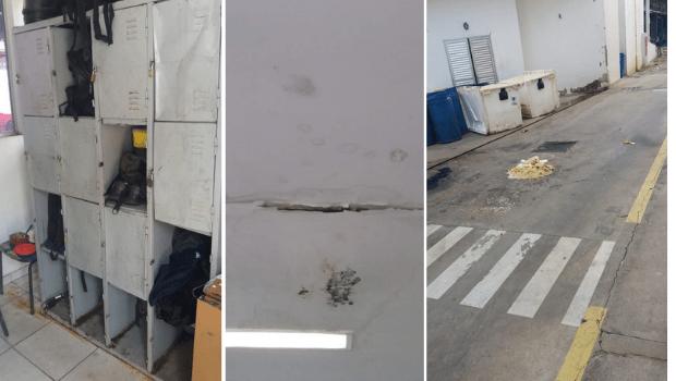 Fotos enviadas ao Jornal Opção mostram as condições precárias de trabalho no HMI Hospital Materno Infantil