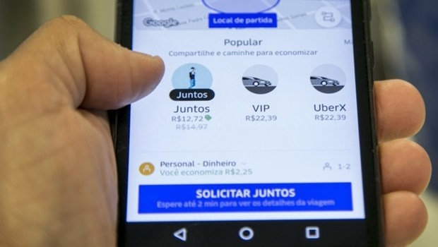 Uber dá desconto de 50% até domingo em ação para promover viagens compartilhadas