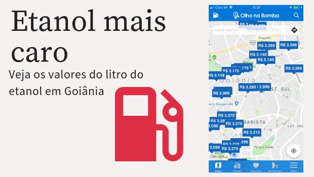 Etanol volta a subir em Goiânia e esbarra na casa dos R$ 3,30
