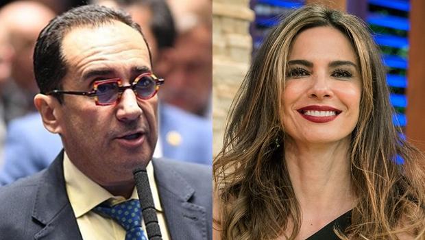 Luciana Gimenez aposta que vai receber 80 mil reais de Kajuru. Trata-se de indenização