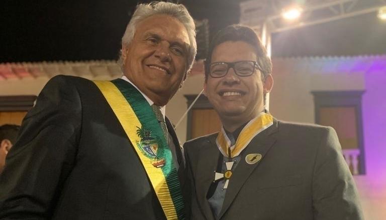 Felipe Cortês recebe medalha do governo de Goiás e deve ocupar cargo federal