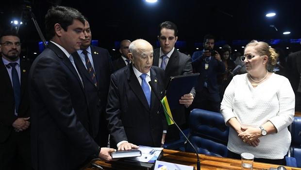Siqueira Campos discursa no Senado   Foto: Marcos Oliveira / Agência Senado