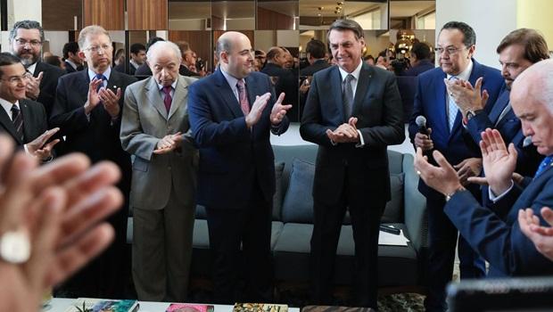 Jair Bolsonaro almoço com lideranças evangélicas - Foto Marcos Corrêa PR