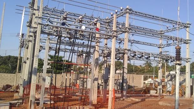 Ampliação da Subestação de Jataí tem 90% das obras concluídas