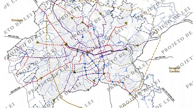Plano Diretor prevê 30 quilômetros de corredores para ônibus em Goiânia
