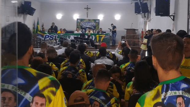 Em evento de filiação, Delegado Waldir comenta desistência do presidente do PSL em Anápolis