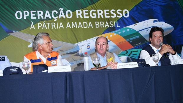 Ministros visitam instalações da Base Aérea de Anápolis que será destinada à repatriados