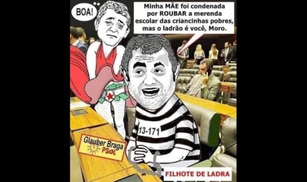 Deputado Glauber Braga virou alvo das mentiras no Facebook depois de atacar ministro Sergio Moro sem apresentar provas