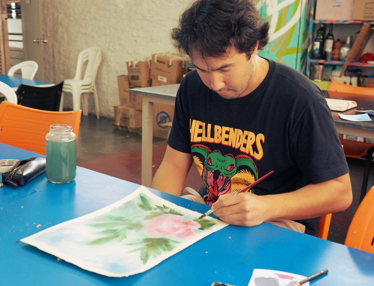 Professor do Basileu França é selecionado para conferência artística em aquarela, na Itália